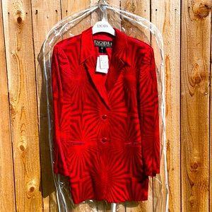 ESCADA NWT RARE Vintage Red Laser Mattelass Blazer